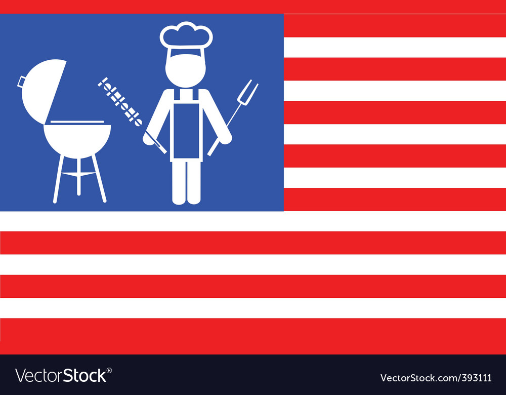 Flag of barbecue vector | Price: 1 Credit (USD $1)