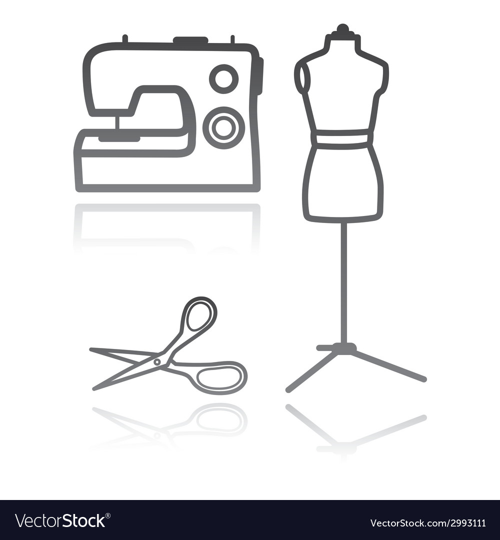 Tailors equipment vector | Price: 1 Credit (USD $1)