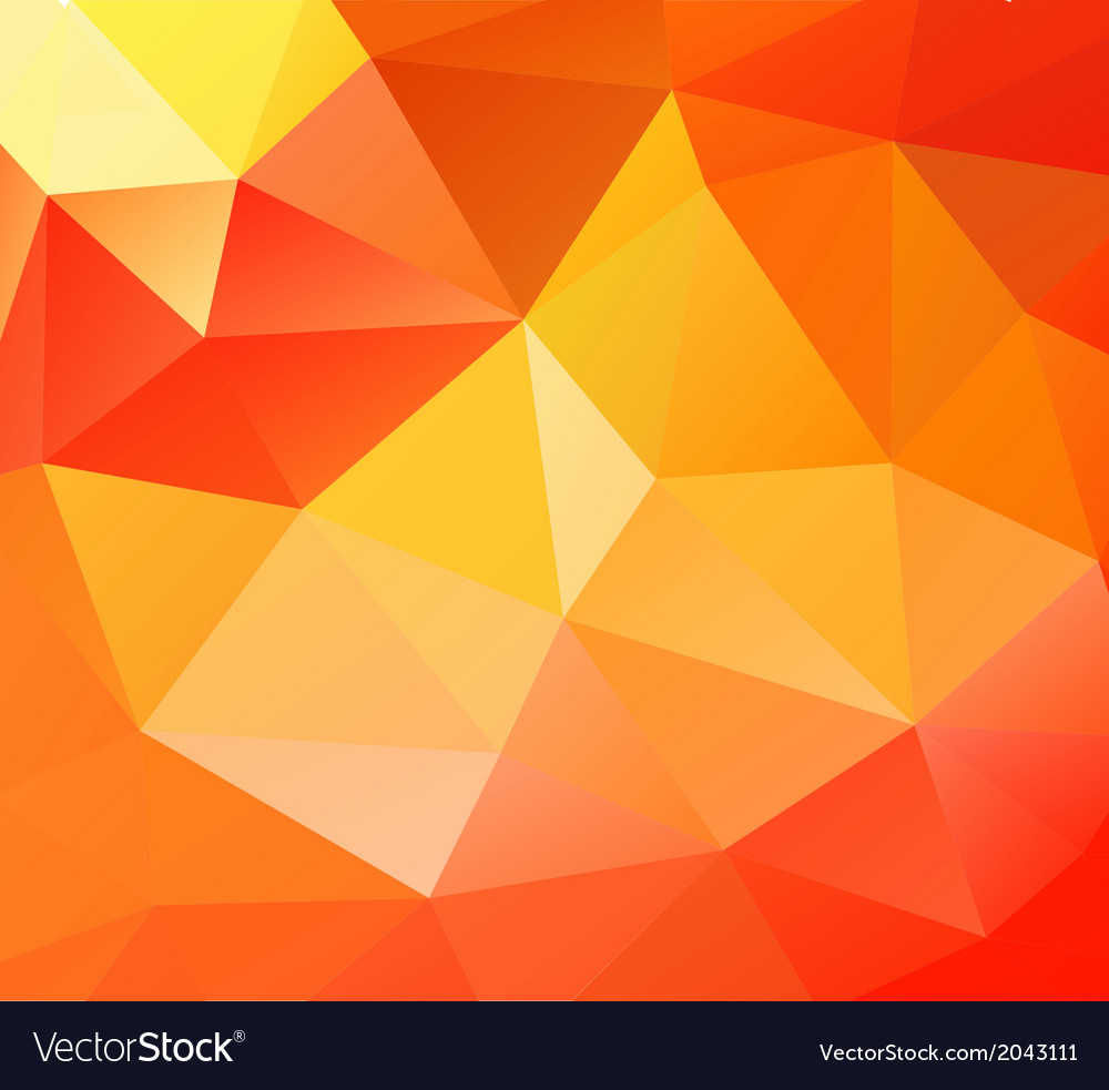 Triangle background orange polygons vector | Price: 1 Credit (USD $1)