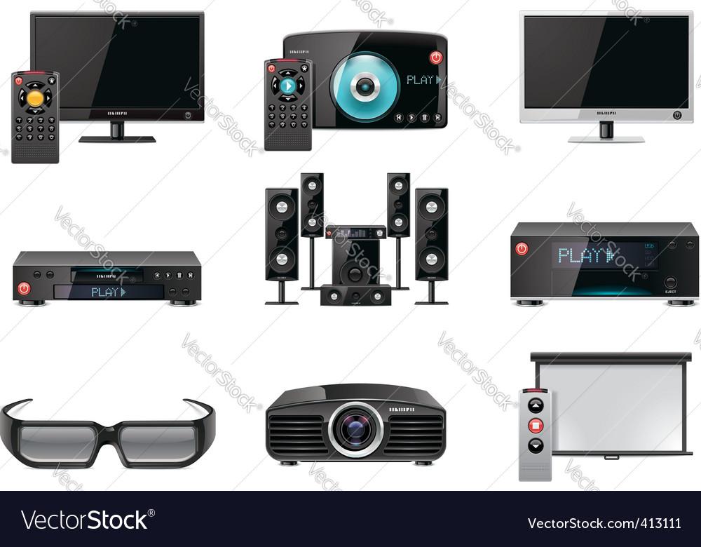 Video equipment icon set vector | Price: 3 Credit (USD $3)