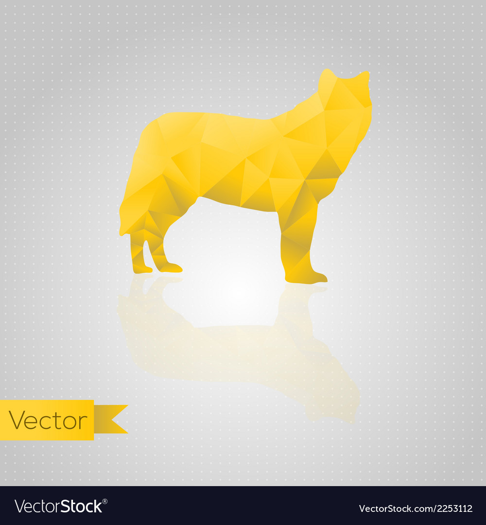 Abstract triangular wolf vector | Price: 1 Credit (USD $1)