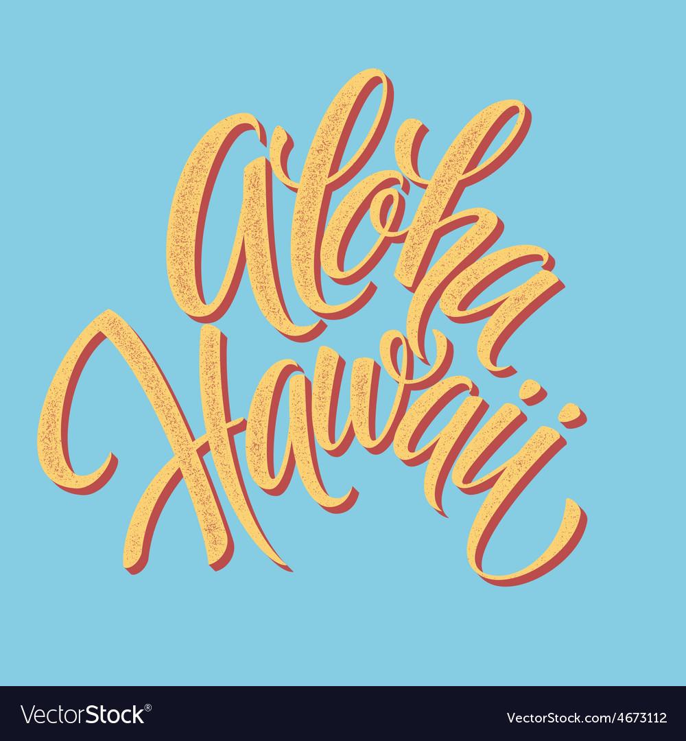 Aloha hawaiian handmade lettering vintage vector | Price: 1 Credit (USD $1)