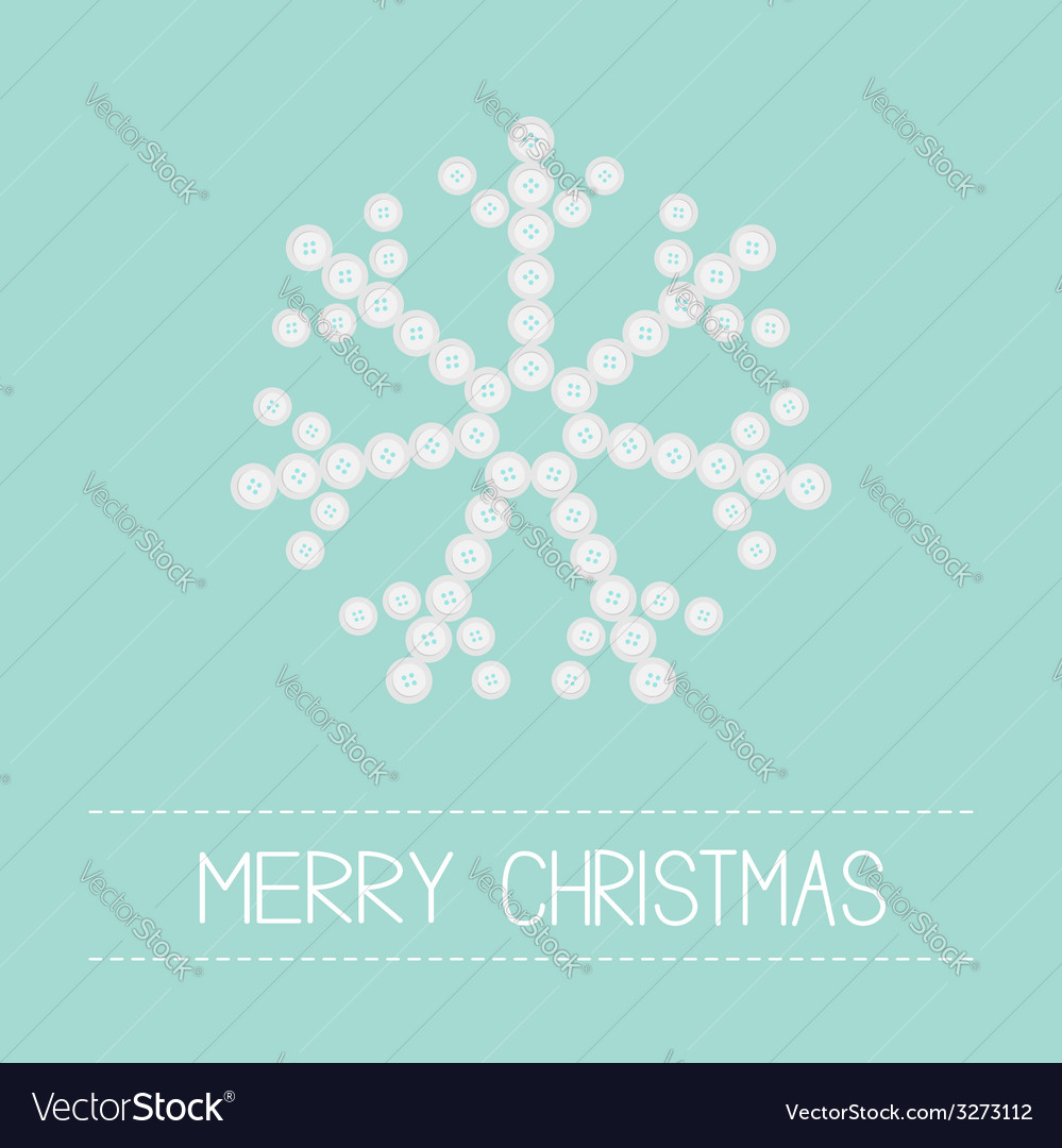 Big snowflake from little buttons pink ribbon vector | Price: 1 Credit (USD $1)