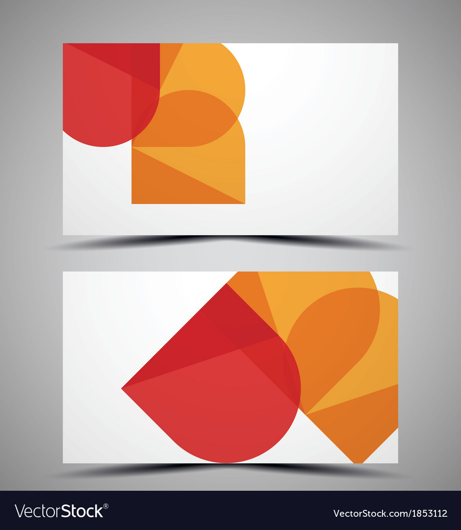 Cmyk business card design template vector | Price: 1 Credit (USD $1)