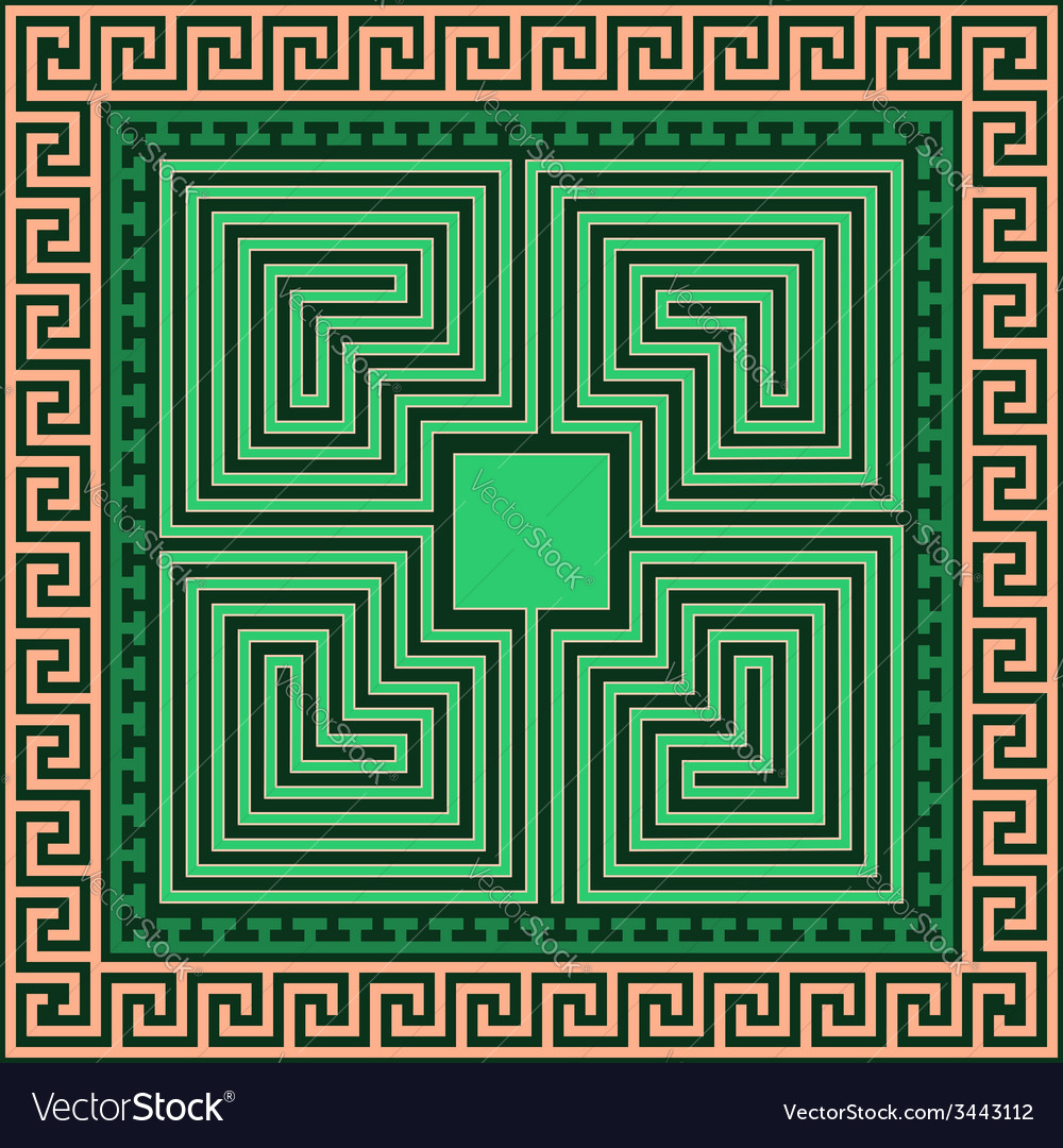 Greek ornament meander and labyrinth vector | Price: 1 Credit (USD $1)
