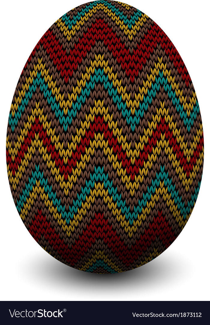 Knitted egg vector | Price: 1 Credit (USD $1)