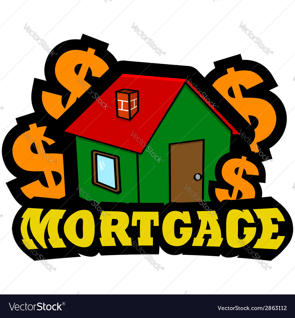 Mortgage icon vector | Price: 1 Credit (USD $1)