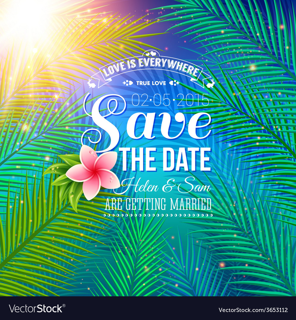 Save the date concept with nature style vector | Price: 1 Credit (USD $1)