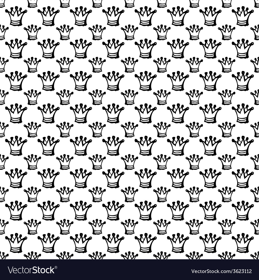 Seamless pattern with crown vector | Price: 1 Credit (USD $1)