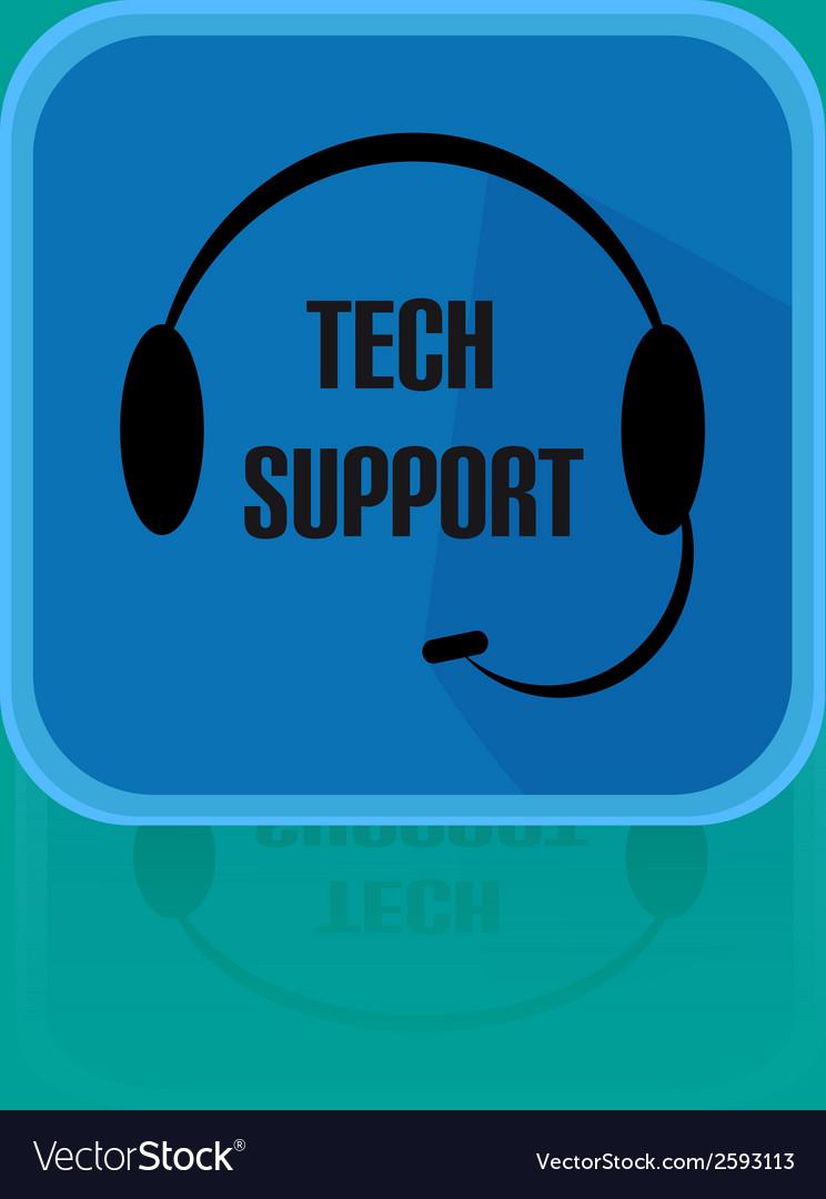 Call centrum flat design button tech support vector | Price: 1 Credit (USD $1)