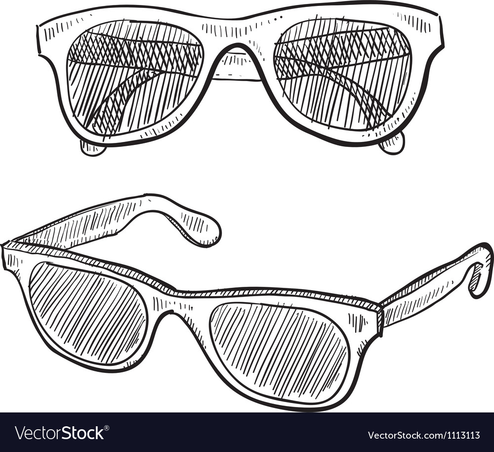 Doodle sunglasses famous vector | Price: 1 Credit (USD $1)
