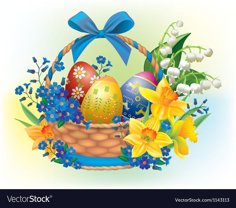 Easter basket vector | Price: 3 Credit (USD $3)