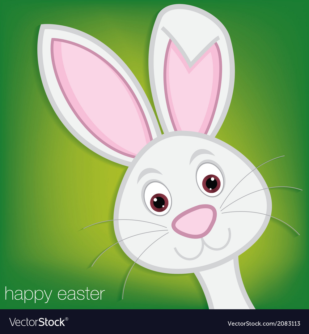 Easter bunny card in format vector | Price: 1 Credit (USD $1)