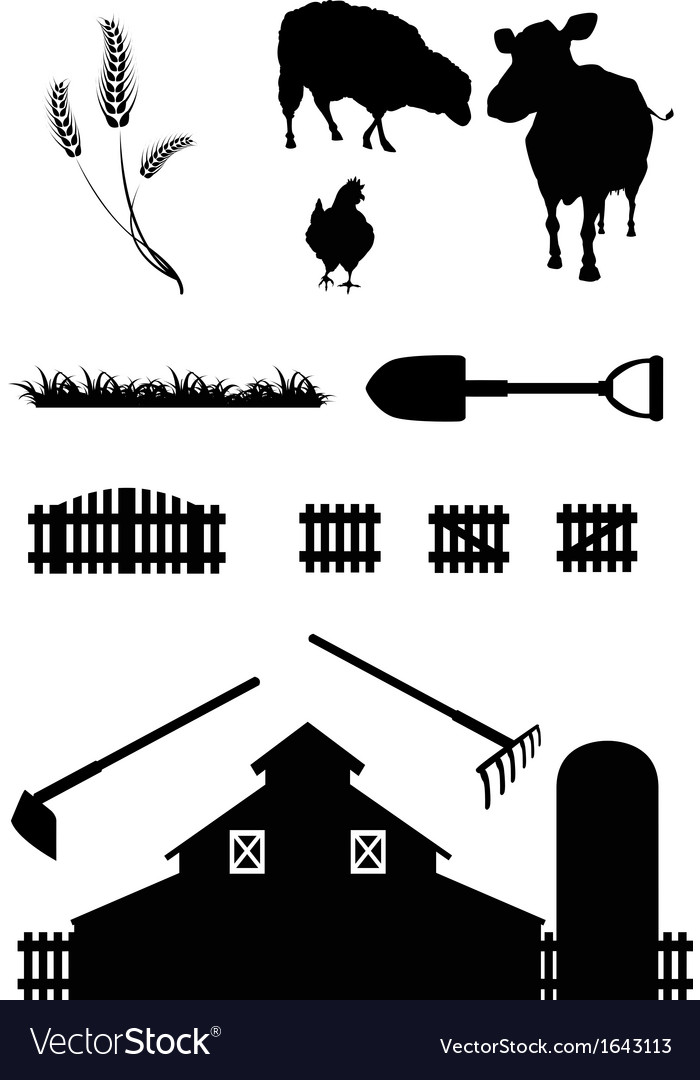 Farm life vector | Price: 1 Credit (USD $1)