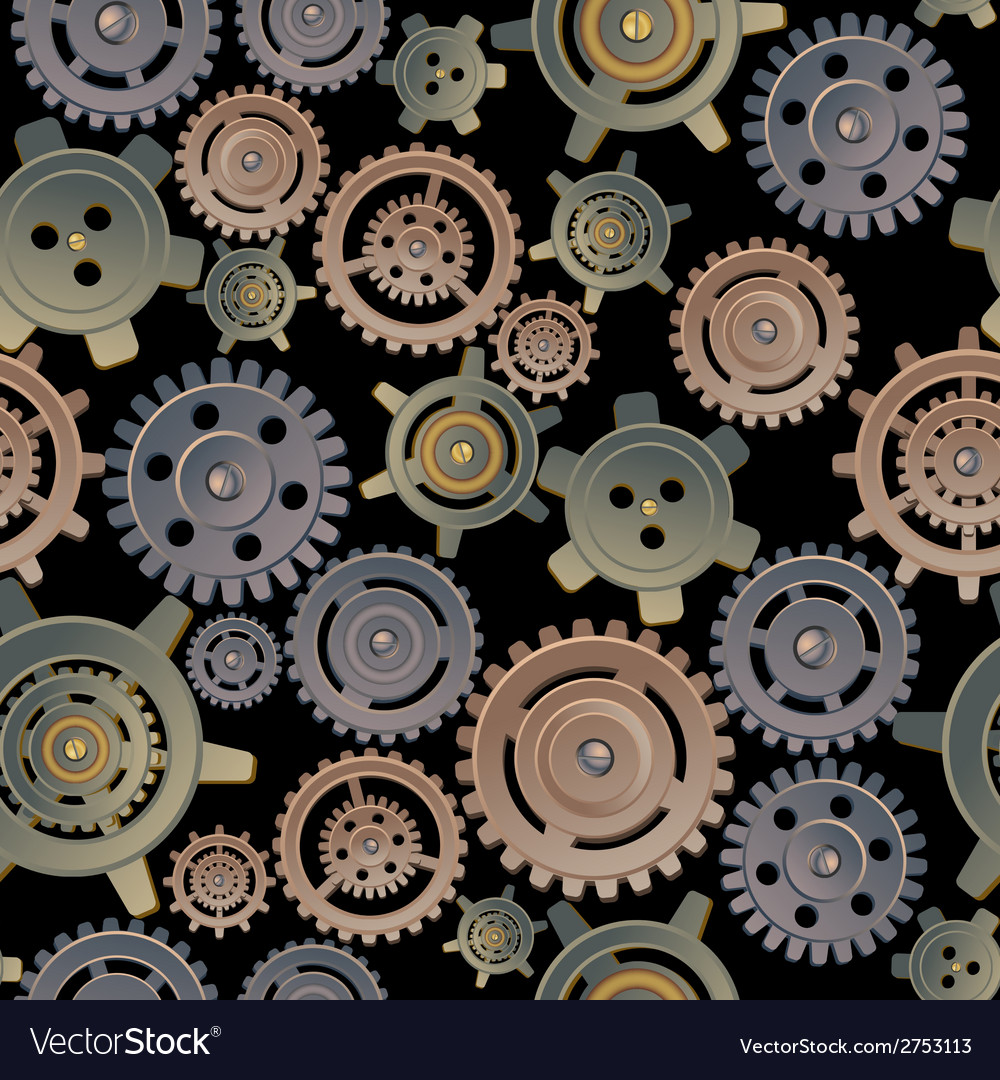 Gears seamless pattern vector | Price: 1 Credit (USD $1)