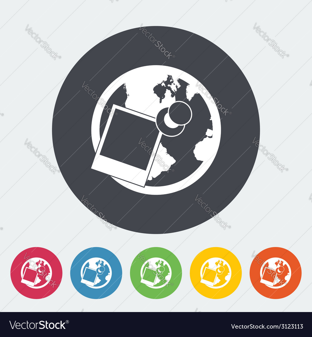 Geotegirovanie single flat icon vector | Price: 1 Credit (USD $1)