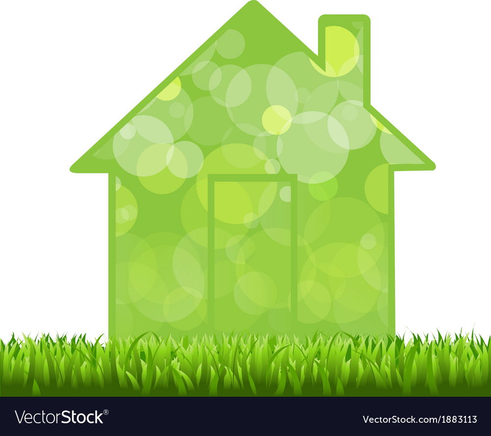 Grass and house vector | Price: 1 Credit (USD $1)
