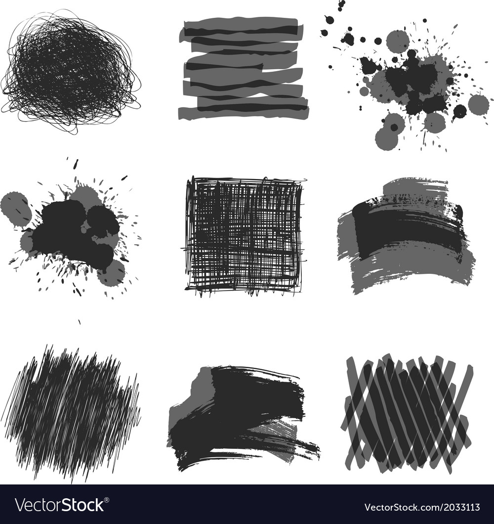 Hand drawn strokes vector | Price: 1 Credit (USD $1)