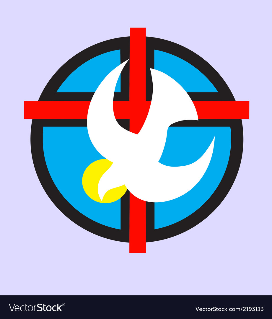 Holyspirit with cross vector | Price: 1 Credit (USD $1)