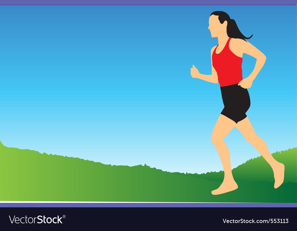 Jogging in the morning vector | Price: 1 Credit (USD $1)