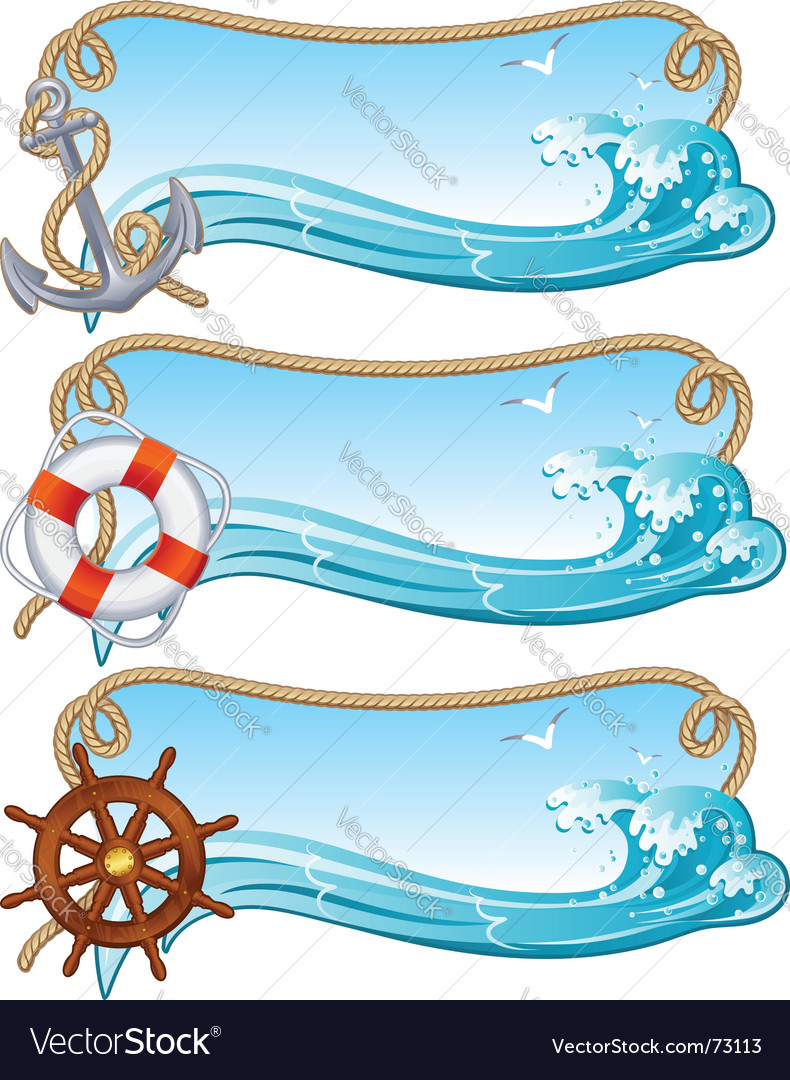 Sailing banner vector | Price: 3 Credit (USD $3)