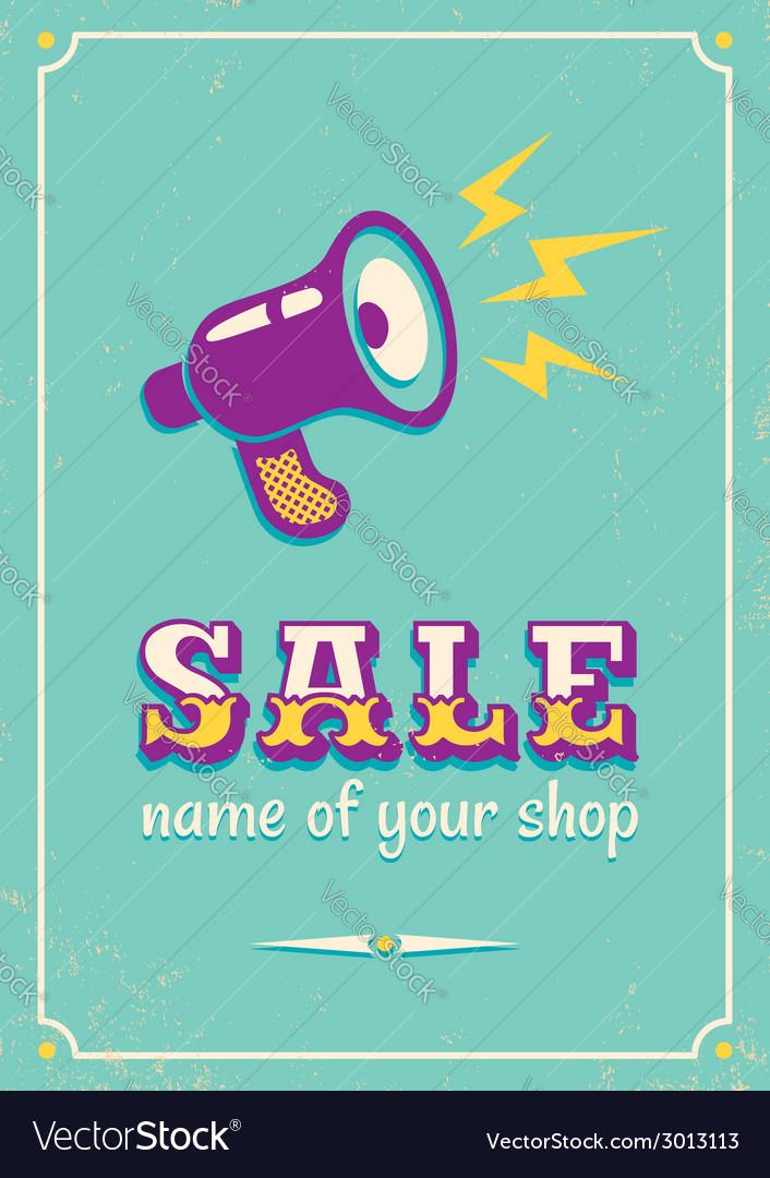 Sale megaphone retro vector | Price: 1 Credit (USD $1)