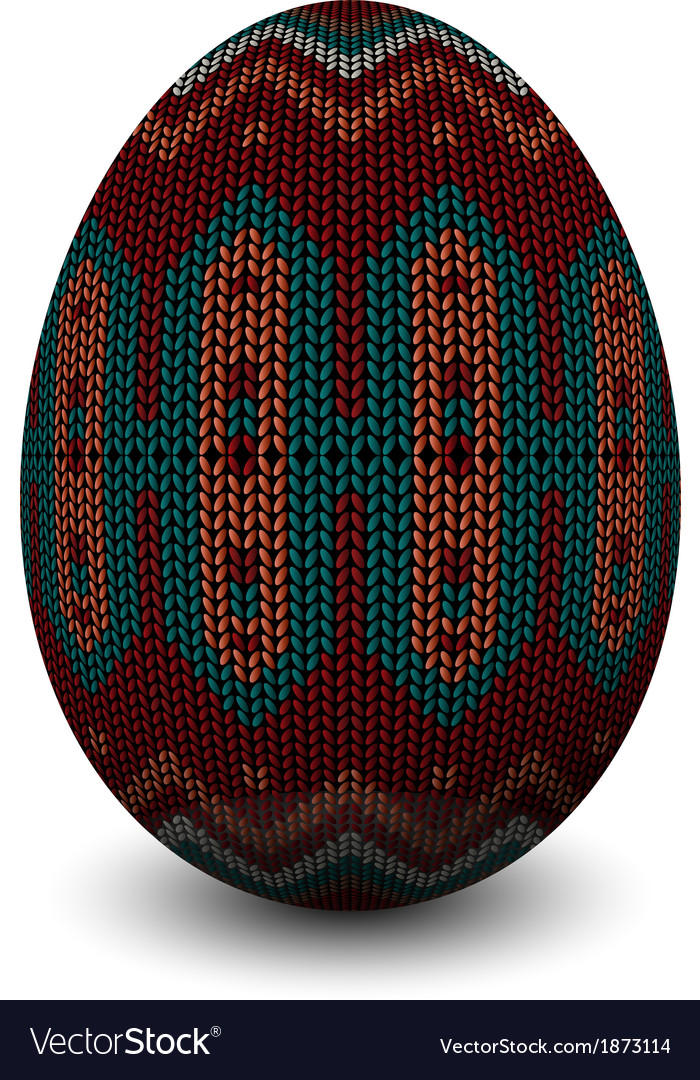 A knitted egg vector | Price: 1 Credit (USD $1)