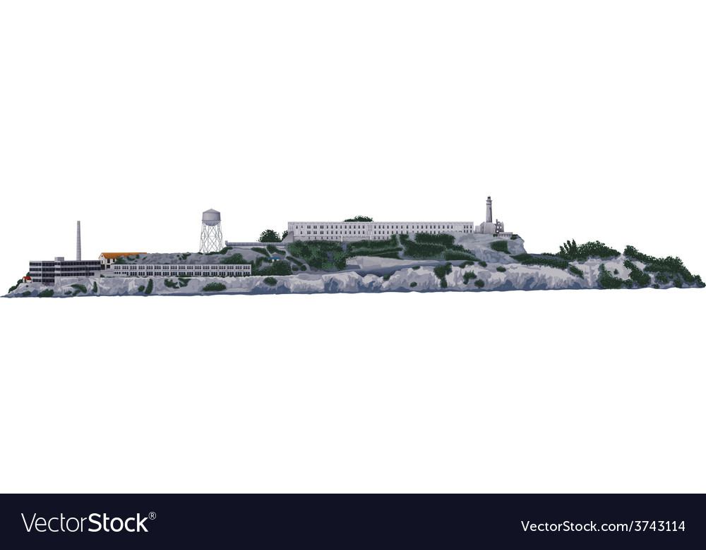 The alcatraz island vector | Price: 1 Credit (USD $1)