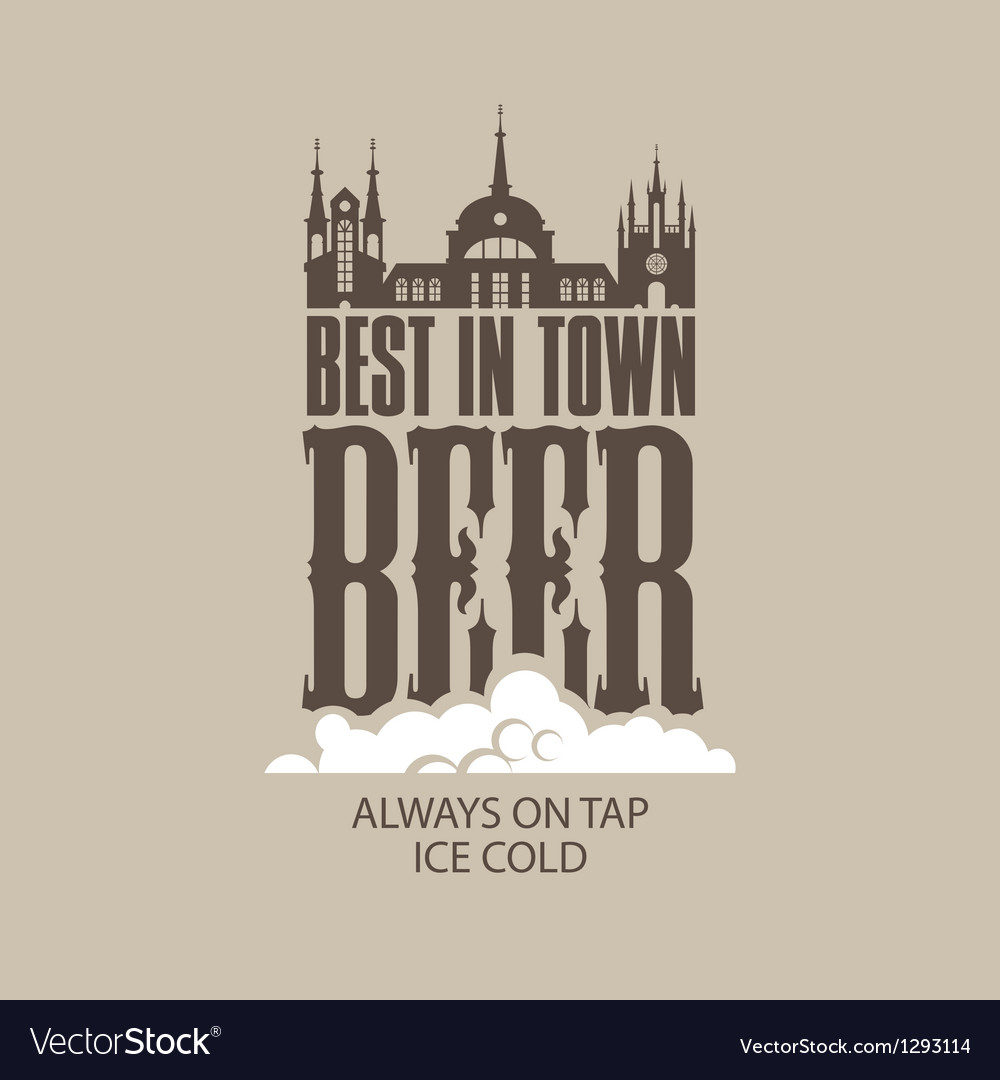 Best beer in the town vector | Price: 1 Credit (USD $1)