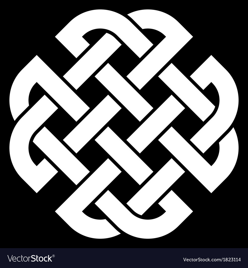 Celtic quaternary knot vector | Price: 1 Credit (USD $1)