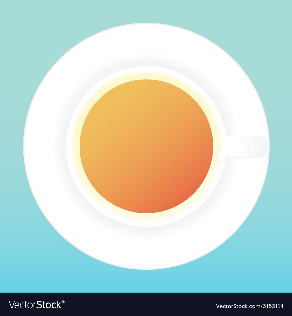 Coffee cup and saucer vector | Price: 1 Credit (USD $1)