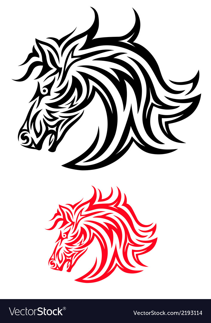 Face horse tribal vector | Price: 1 Credit (USD $1)