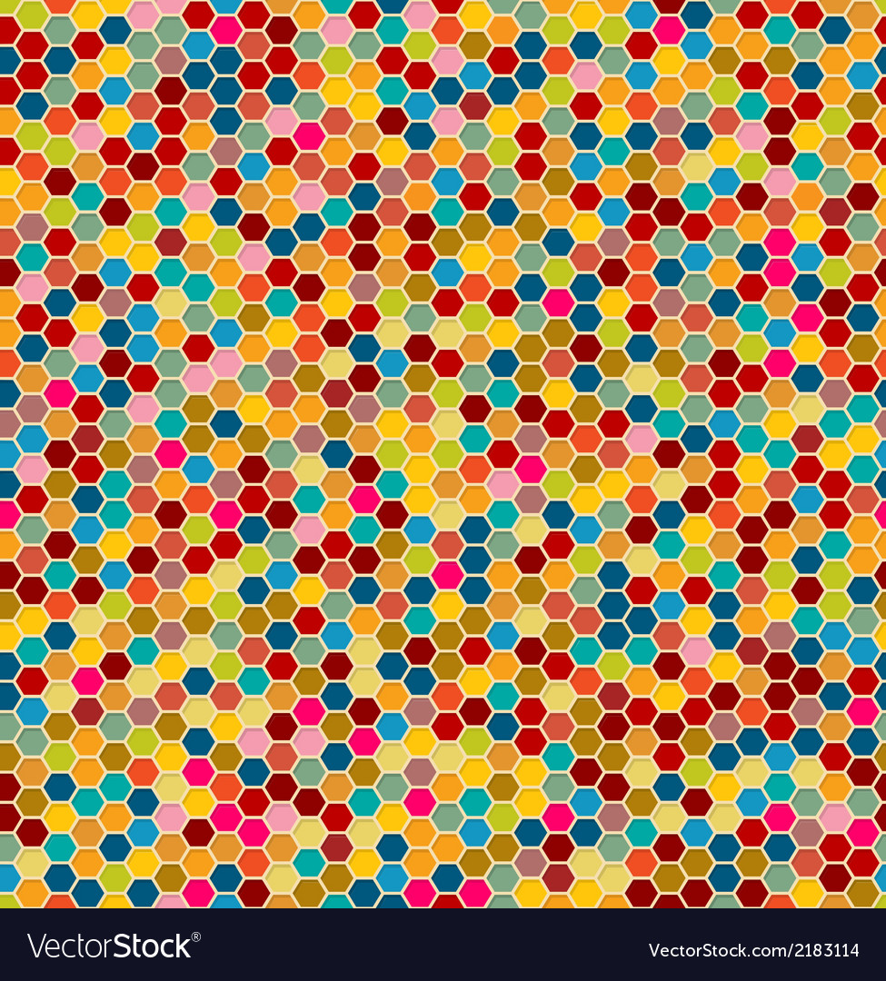 Hexagon seamless pattern vector | Price: 1 Credit (USD $1)