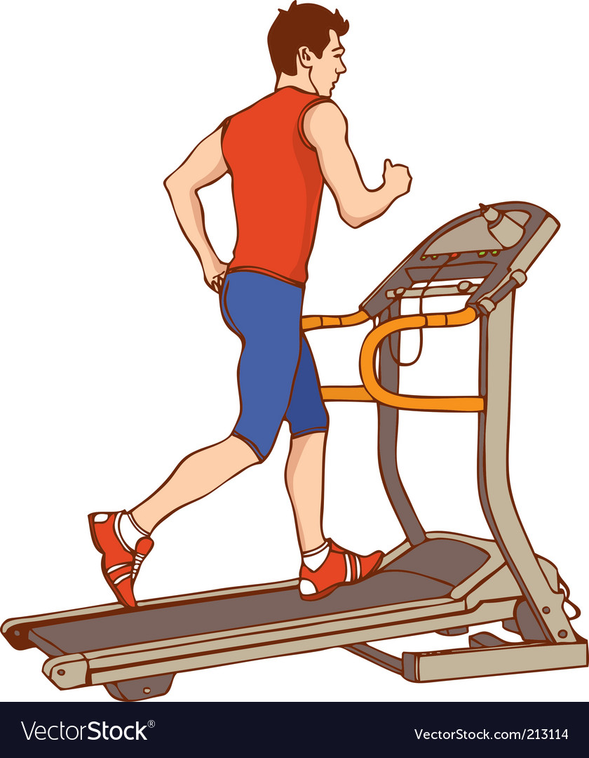 Man on treadmill vector | Price: 1 Credit (USD $1)