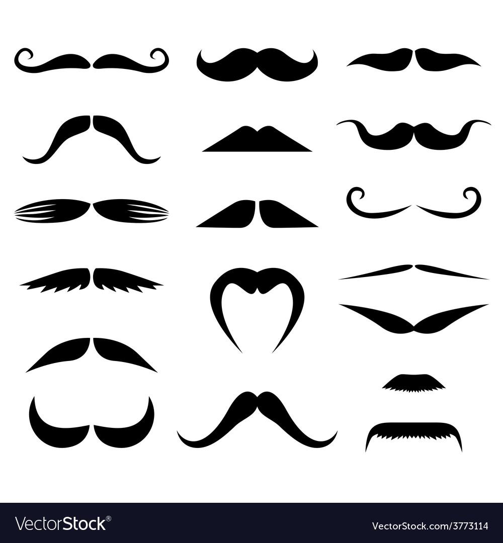 Moustache set vector | Price: 1 Credit (USD $1)