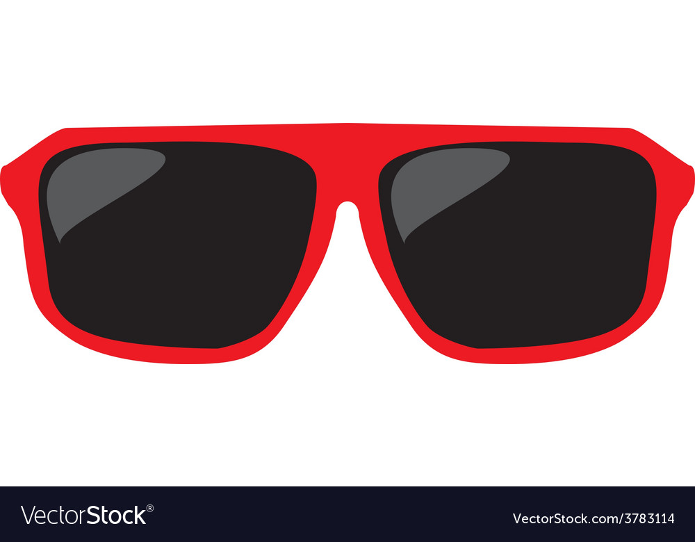 Red sunglasses isolated on white background vector   Price: 1 Credit (USD $1)
