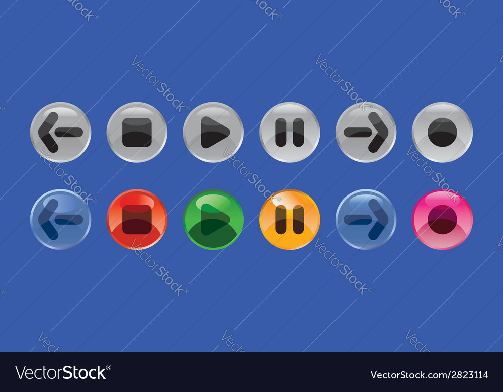 Round buttons vector | Price: 1 Credit (USD $1)