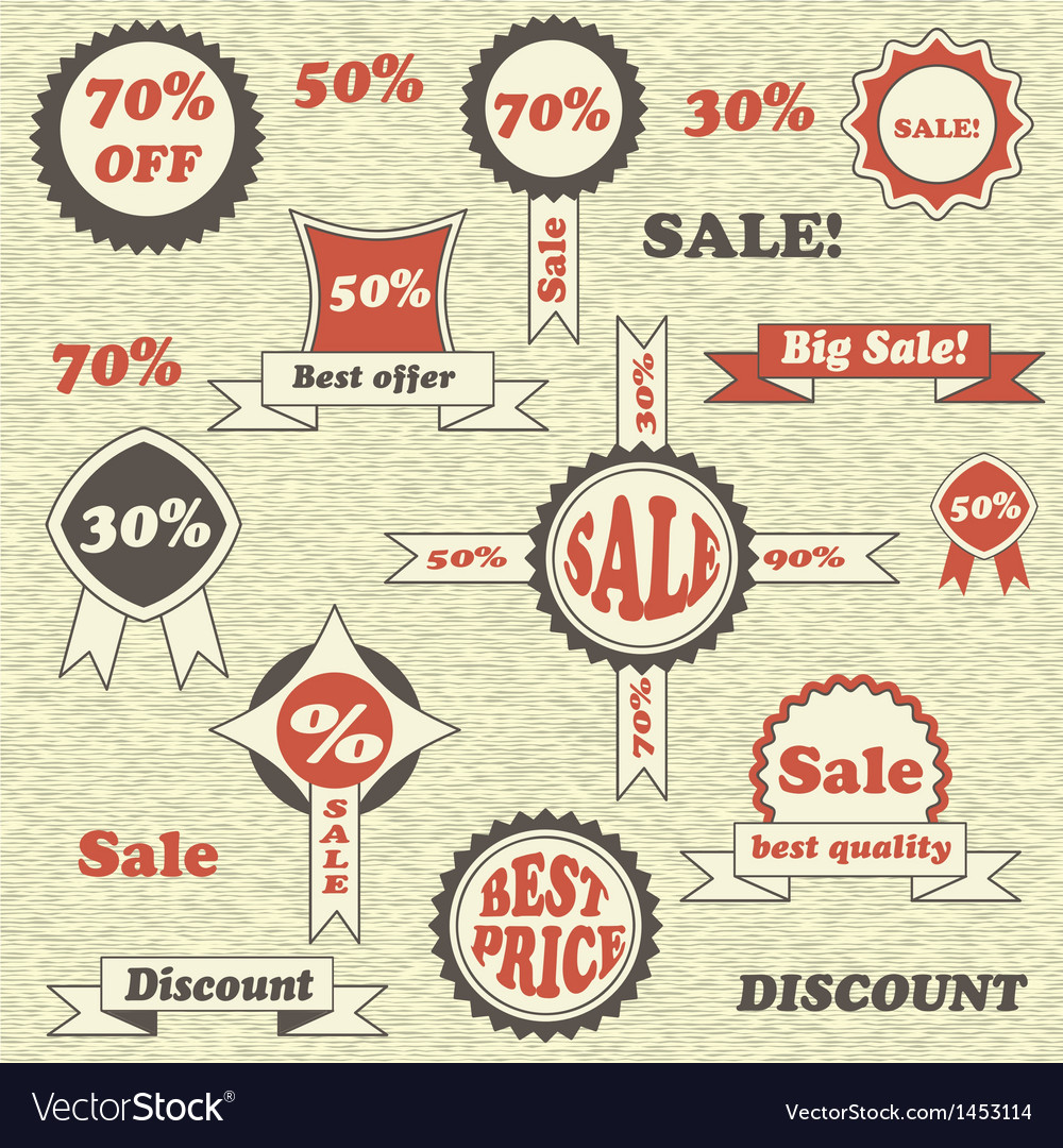 Sale emblems labels and tags vector | Price: 1 Credit (USD $1)