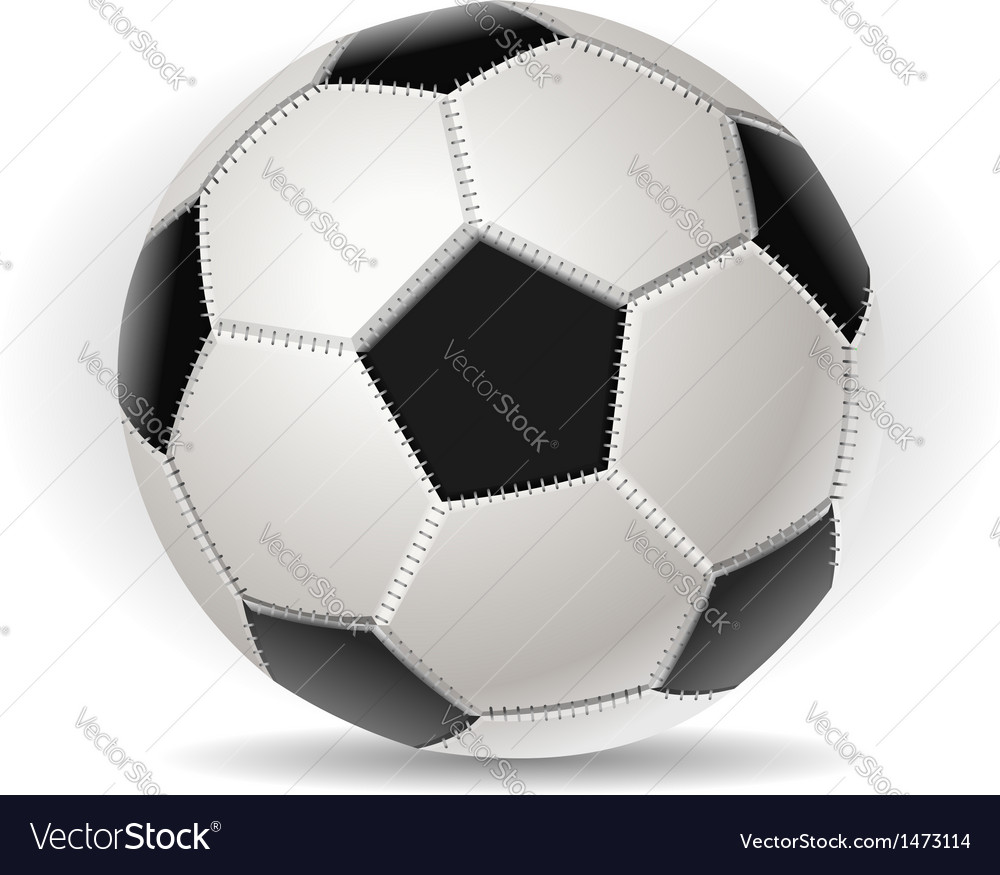 Soccer ball isolated on withe vector | Price: 1 Credit (USD $1)