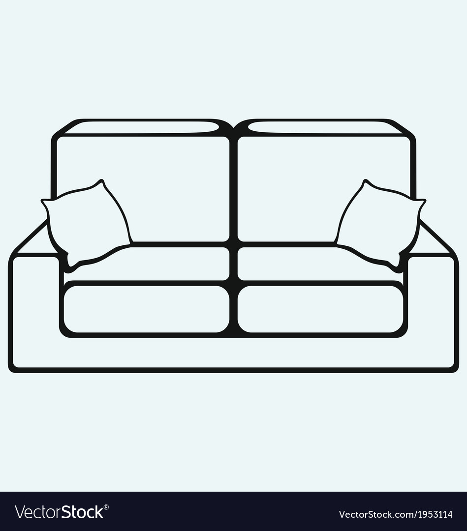 Sofa furniture vector   Price: 1 Credit (USD $1)
