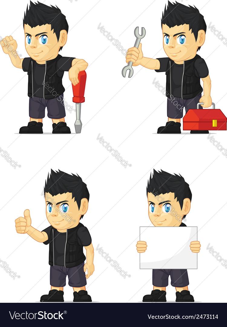 Spiky rocker boy customizable mascot 9 vector | Price: 1 Credit (USD $1)