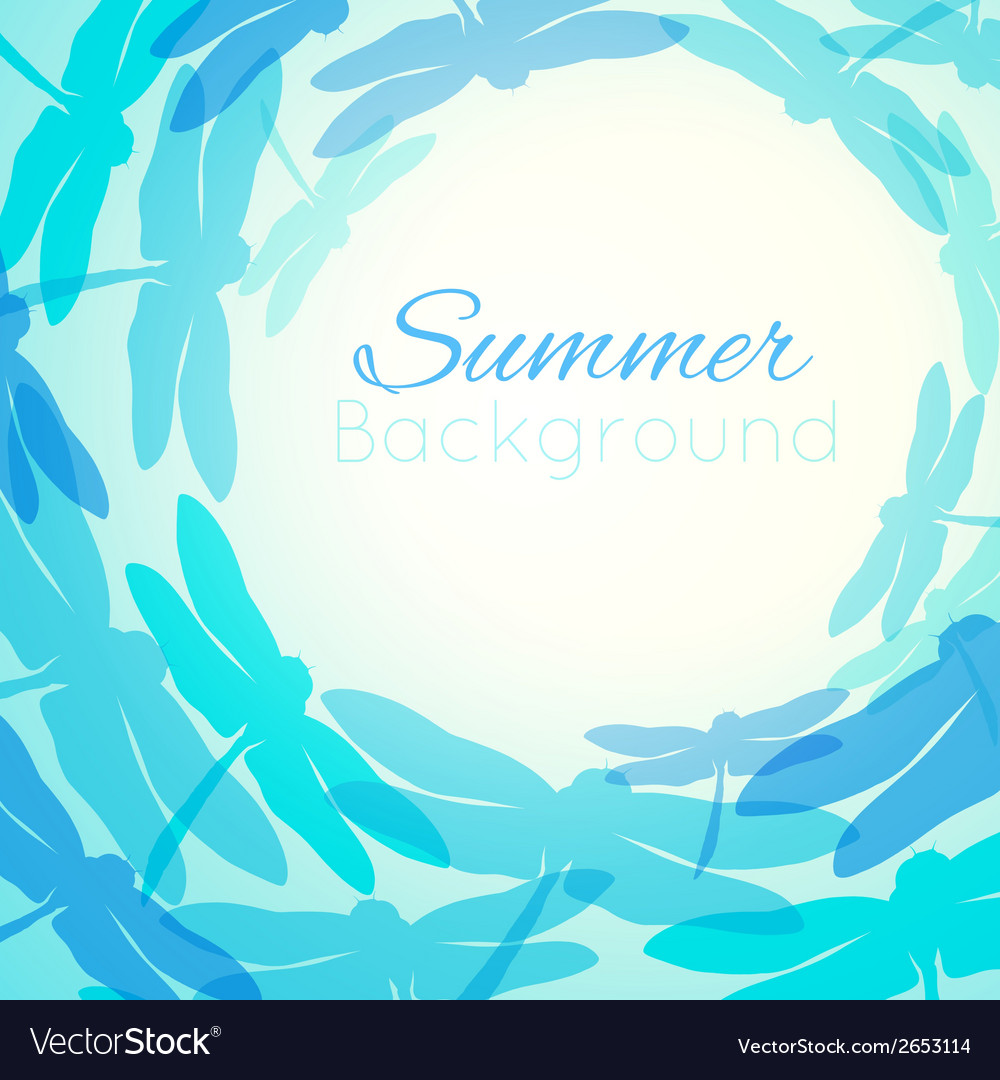 Summer background with flying silhouette vector | Price: 1 Credit (USD $1)