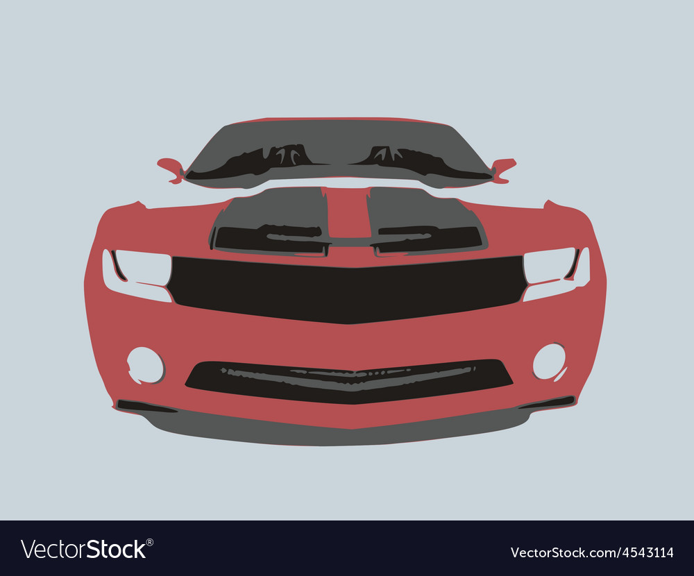 Very fast sport red car vector | Price: 1 Credit (USD $1)