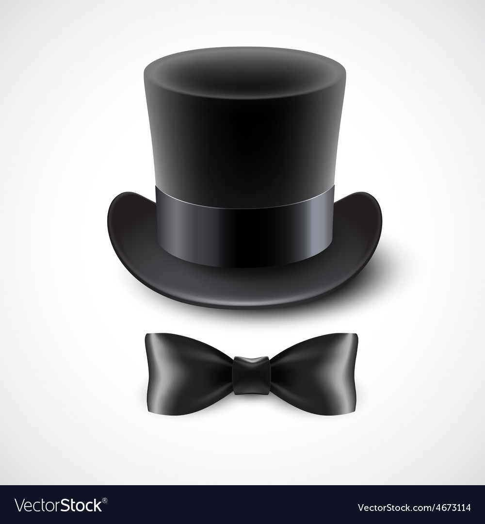 Vintage top hat and a bow tie vector | Price: 3 Credit (USD $3)