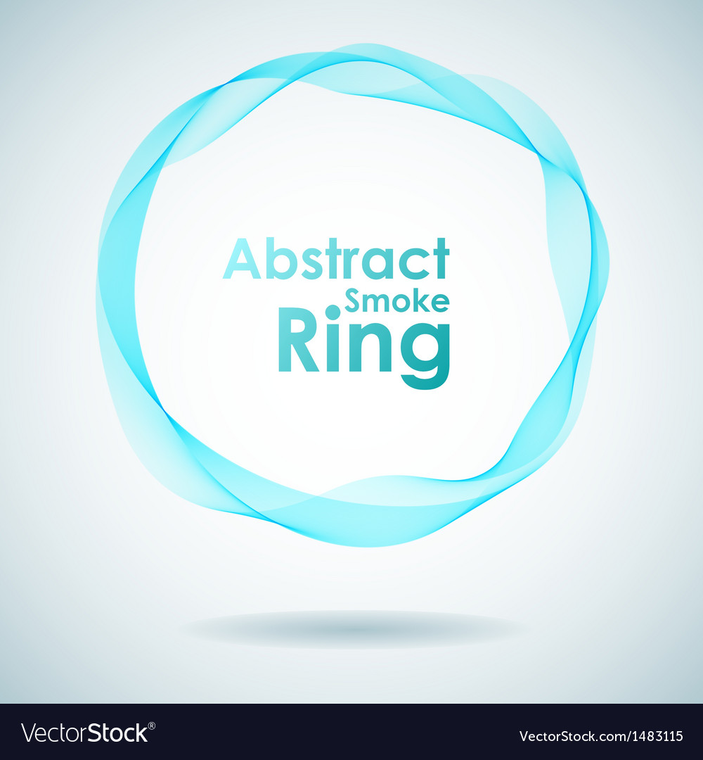 Abstract cyan smoke ring design element vector | Price: 1 Credit (USD $1)