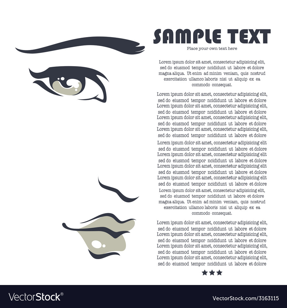 Beauty face vector | Price: 1 Credit (USD $1)