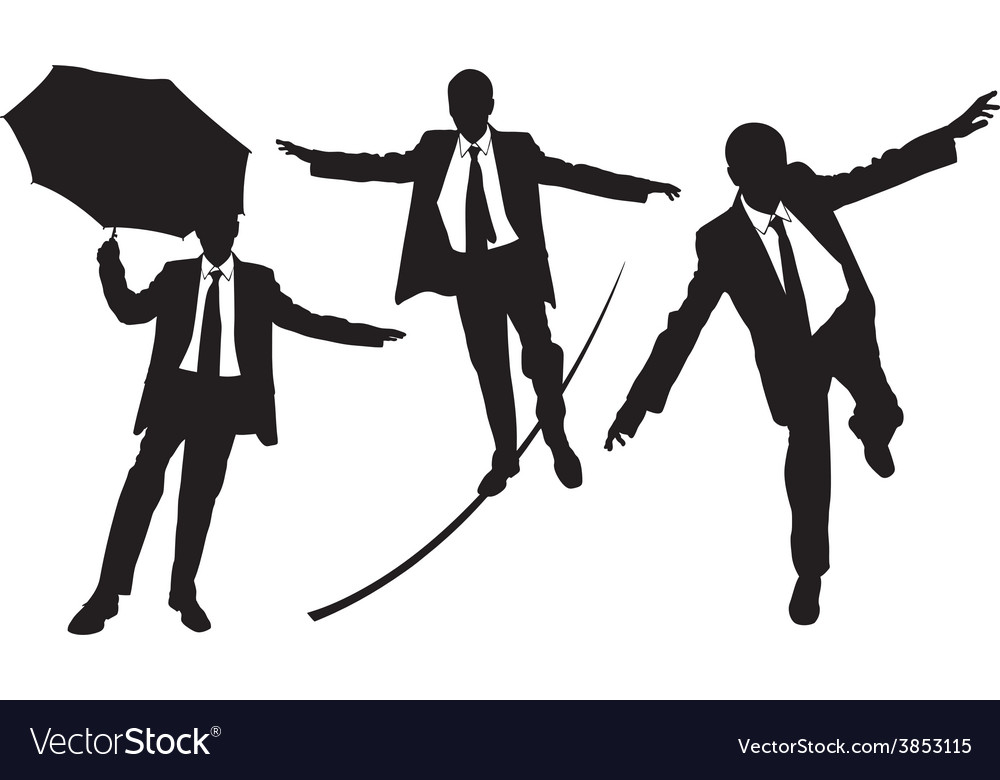 Business men on rope vector | Price: 1 Credit (USD $1)