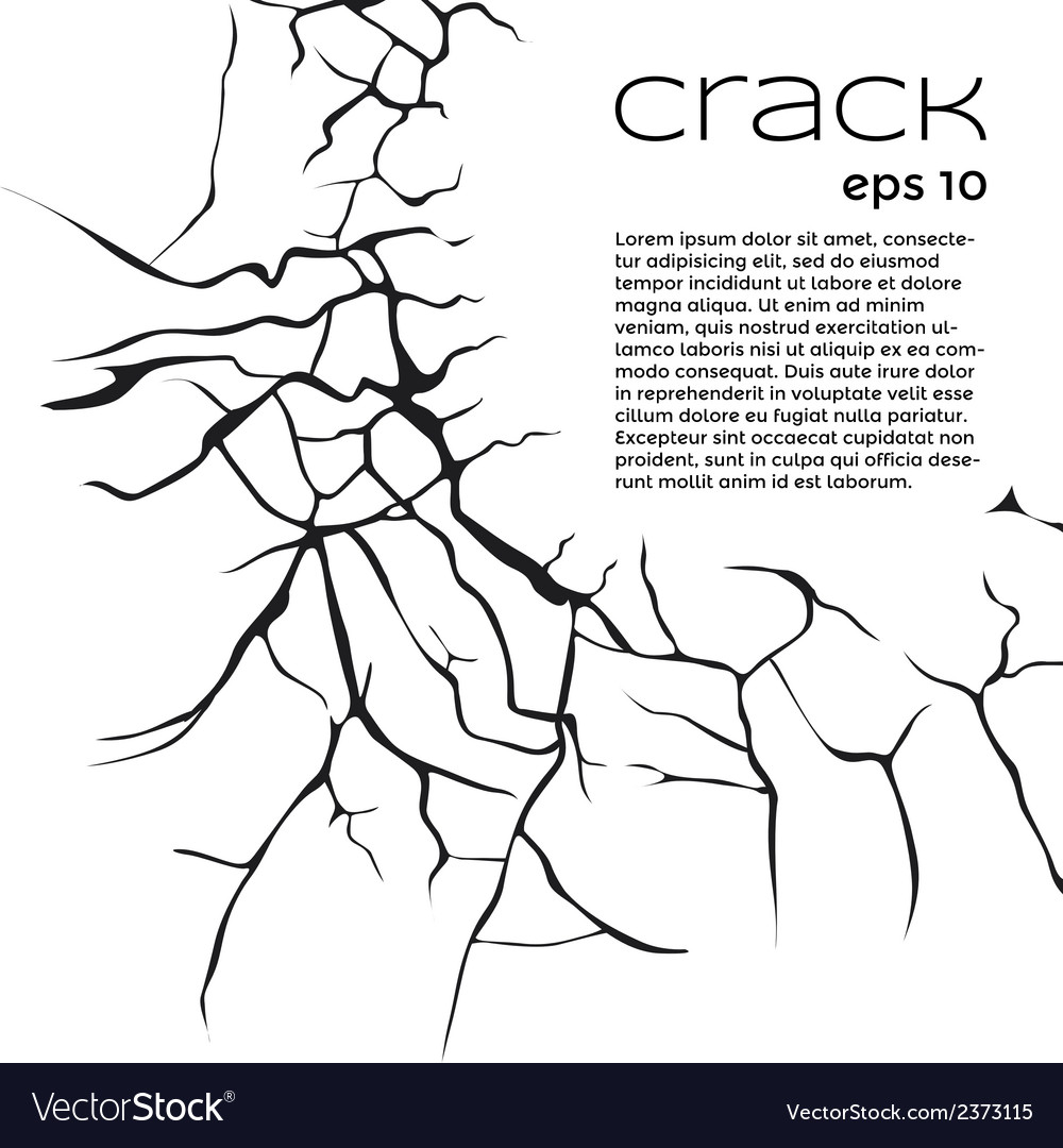 Cracks and text vector | Price: 1 Credit (USD $1)