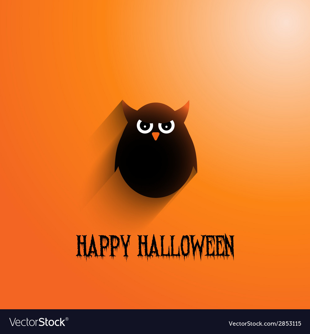 Halloween owl background 2508 vector | Price: 1 Credit (USD $1)