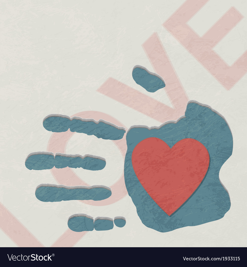 Loving hand vector | Price: 1 Credit (USD $1)
